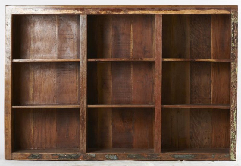 bibliothèque basse bois