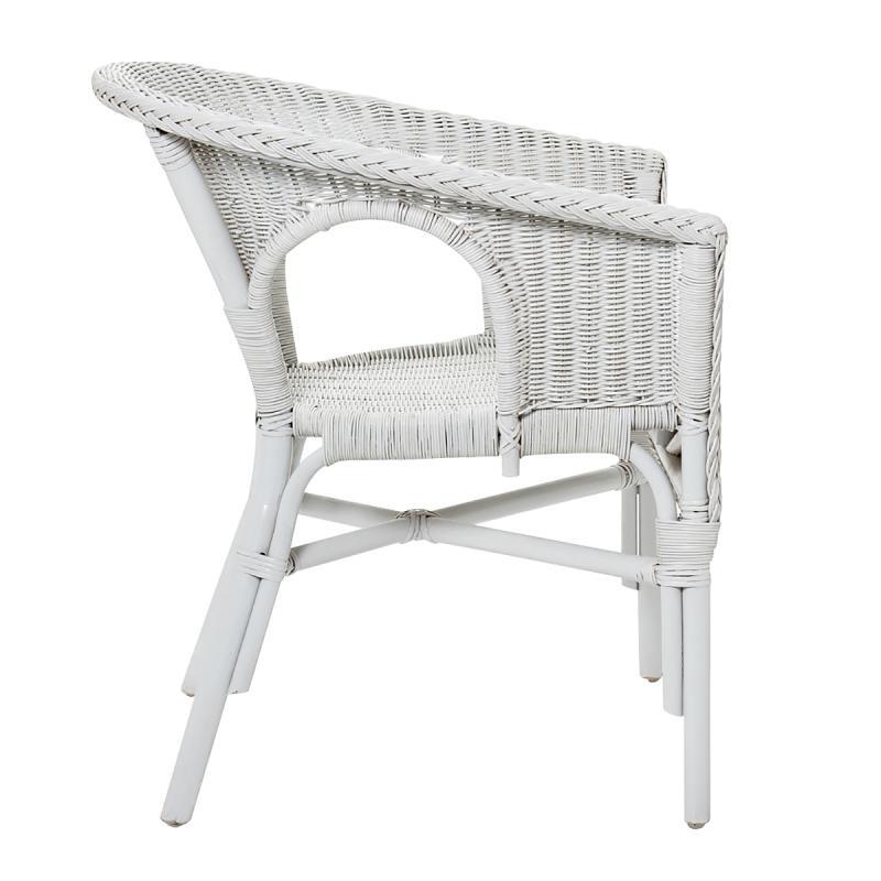 fauteuil rotin blanc