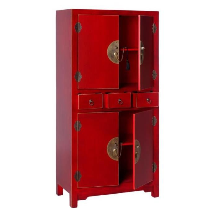 armoire rouge