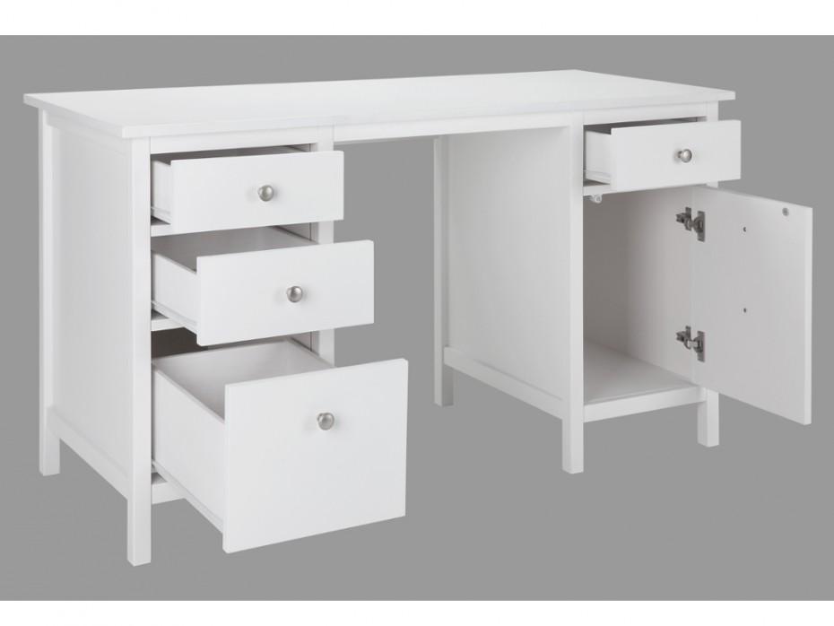 bureau blanc tiroir