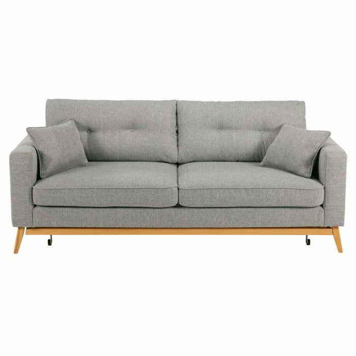 canapé lit gris