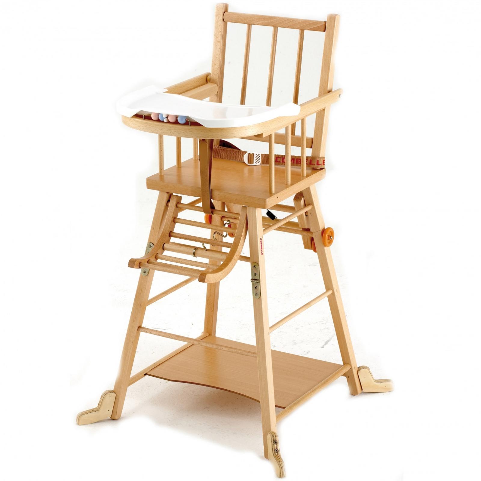 chaise haute bois