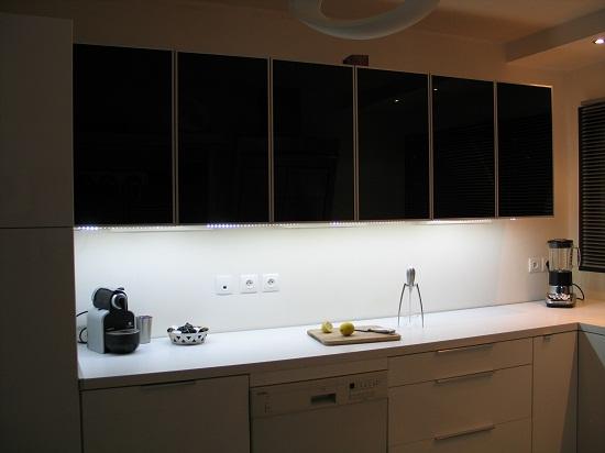 éclairage plan de travail cuisine led