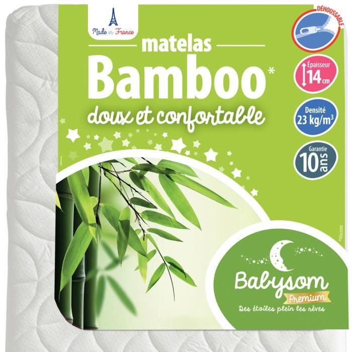 matelas bébé bambou