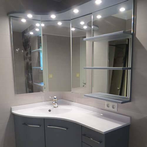 meuble d angle de salle de bain