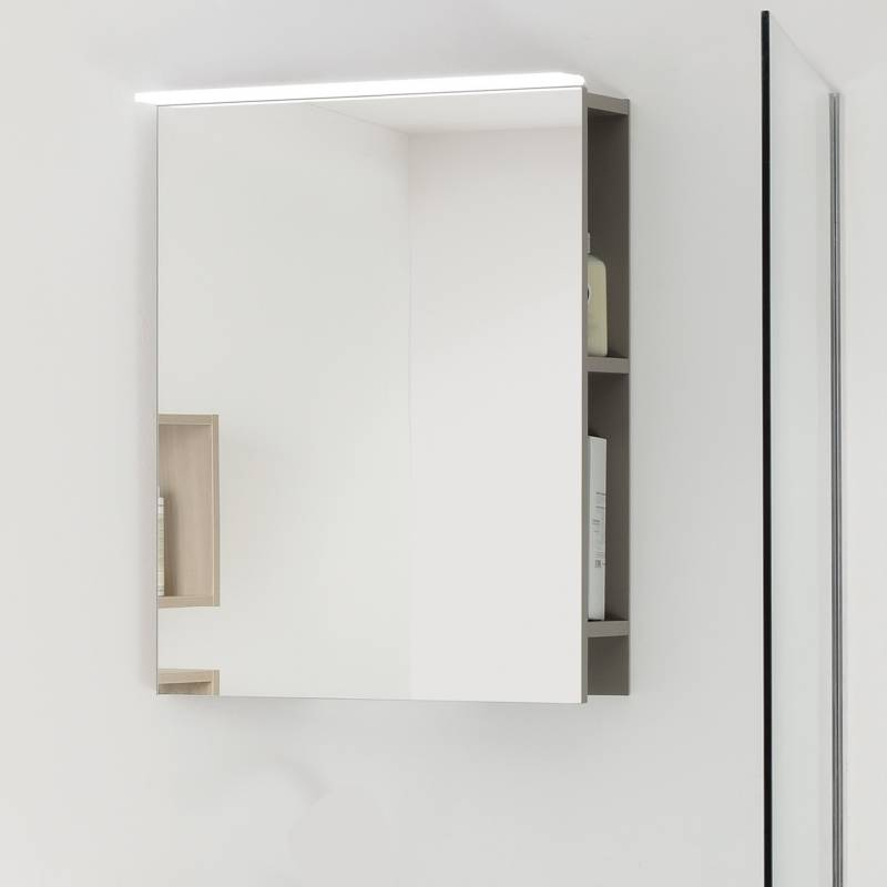 miroir salle de bain rangement