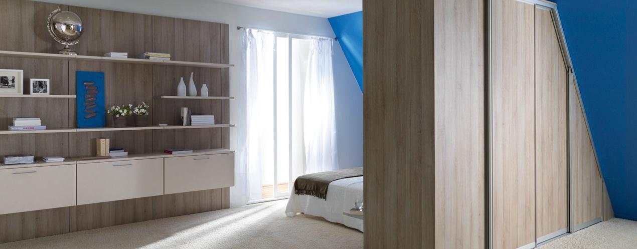 rangement mural chambre