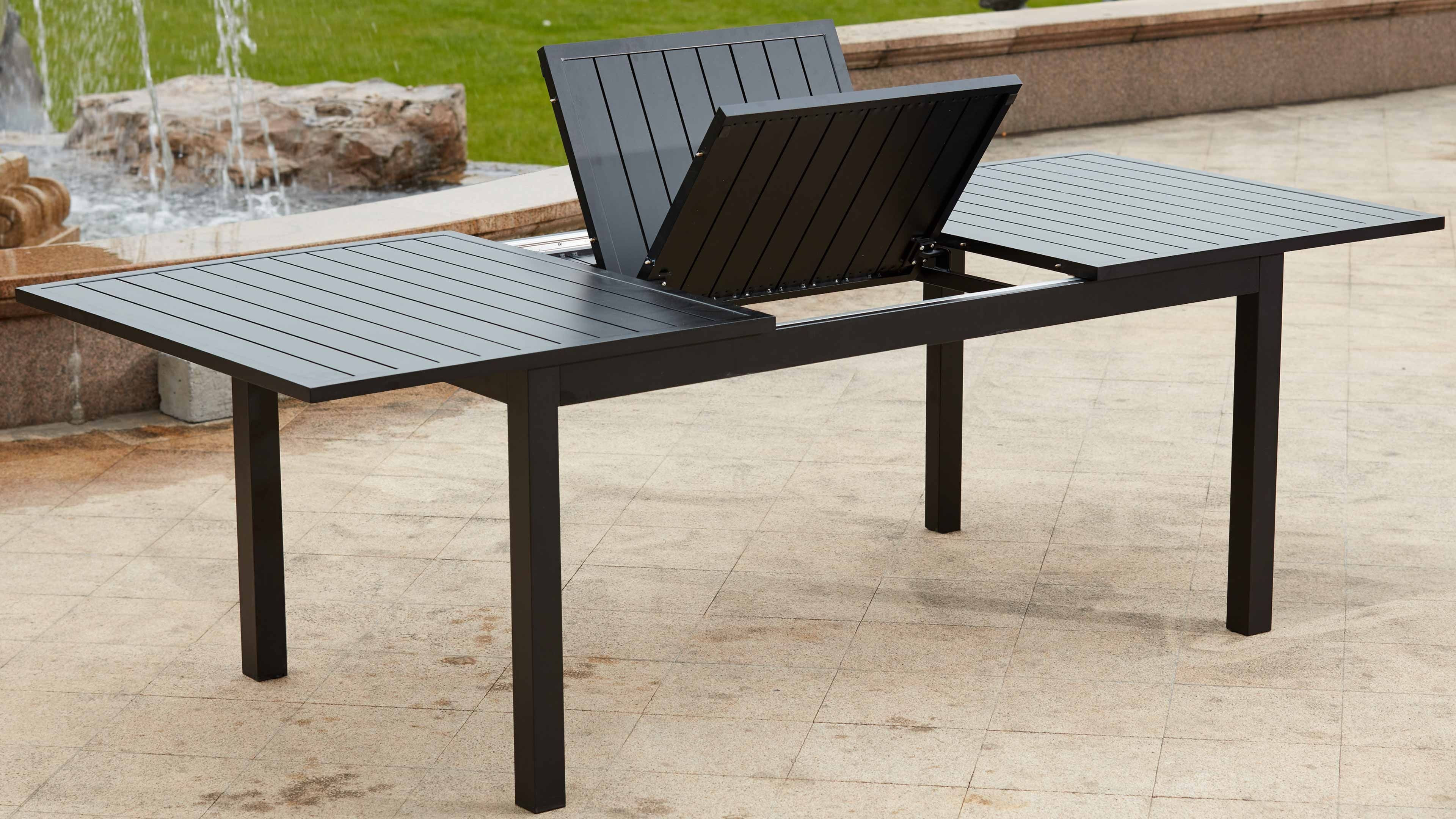 table de jardin aluminium