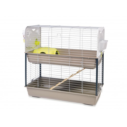 cage lapin double
