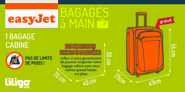 dimension valise cabine avion easyjet