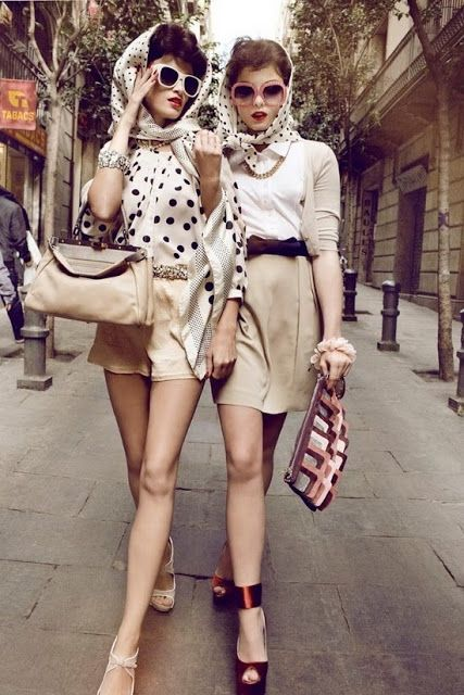 look retro chic
