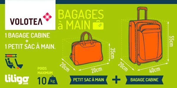 taille des bagages à main ryanair