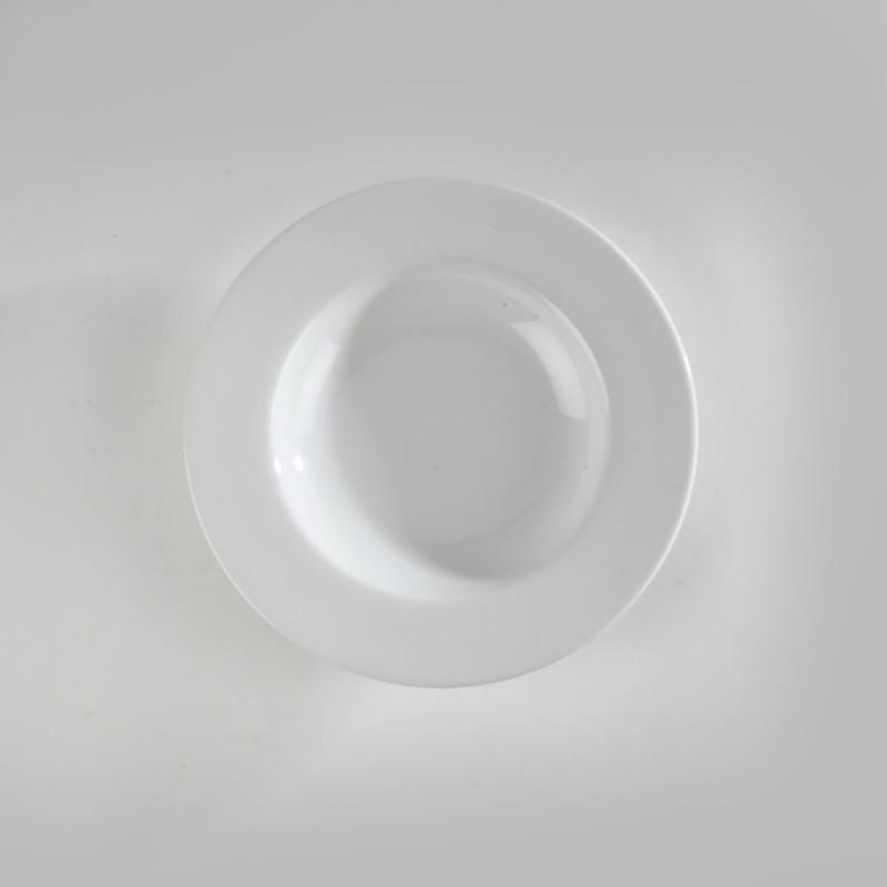 assiette creuse blanche