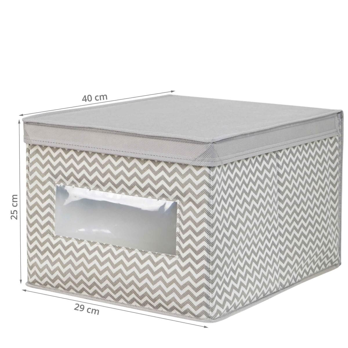 boite de rangement en tissu avec couvercle