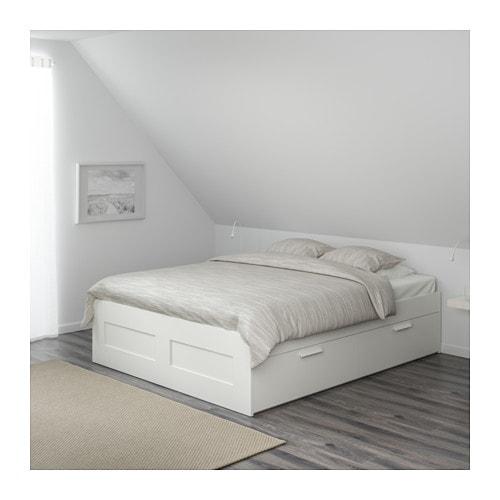 cadre de lit rangement