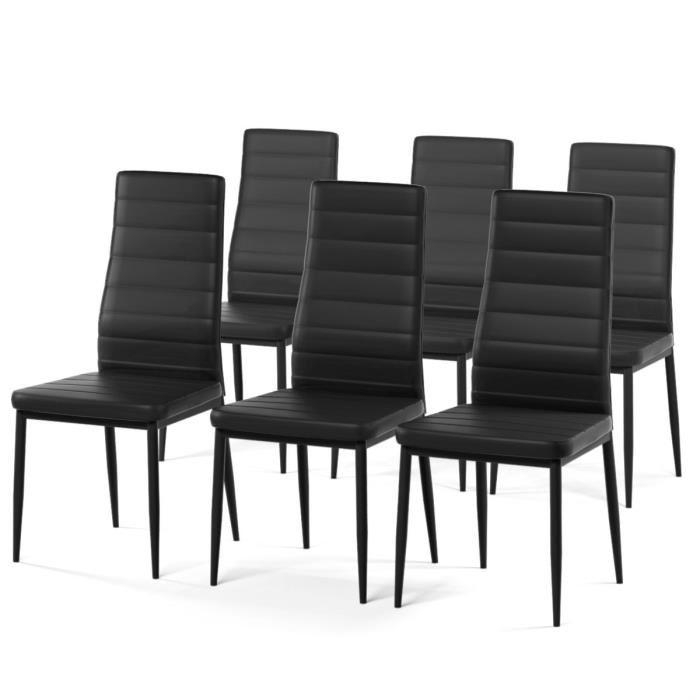 chaise salle a manger noir