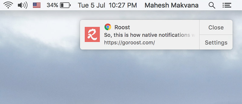 chrome notifications