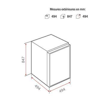 dimension frigo top