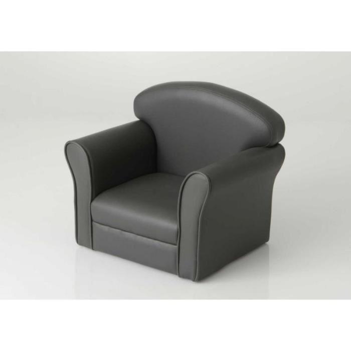 fauteuil enfant gris
