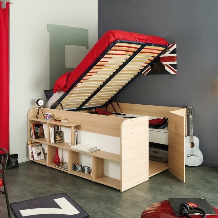 lit avec rangement en dessous