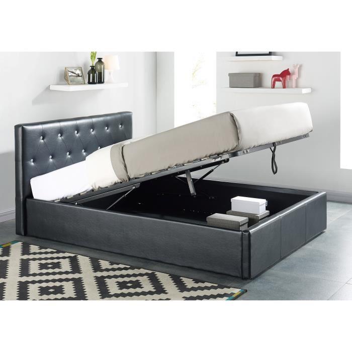 lit coffre noir