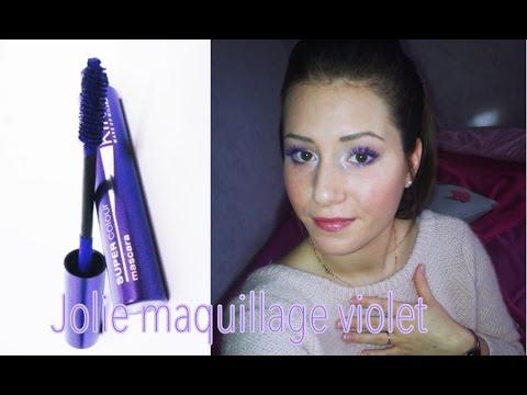 mascara violet