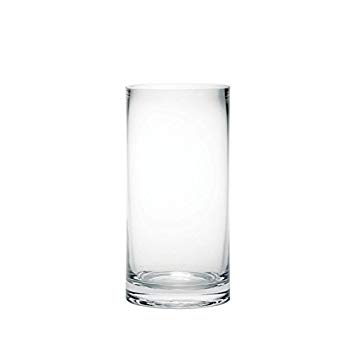 vase en verre transparent